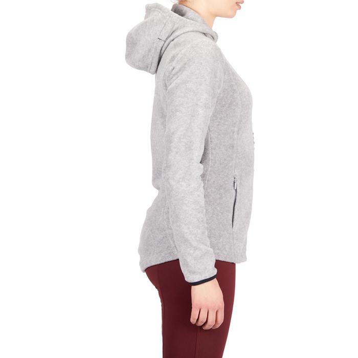 Reitfleecejacke mit Kapuze 2-in-1 Reiten Damen grau