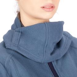 Reitfleecejacke mit Kapuze 2-in-1 Damen blau