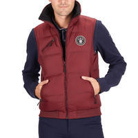 500 Warm Sleeveless Horse Riding Gilet - Burgundy