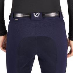 Pantalon chaud d'équitation homme BR180 WARM fond de peau marine