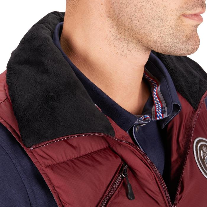 Heren bodywarmer ruitersport 500 Warm bordeaux
