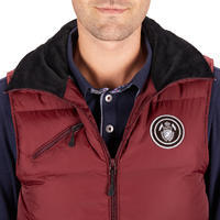 500 Warm Sleeveless Horseback Riding Gilet - Burgundy