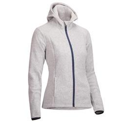 Forro polar con capucha 2en1 equitación mujer gris