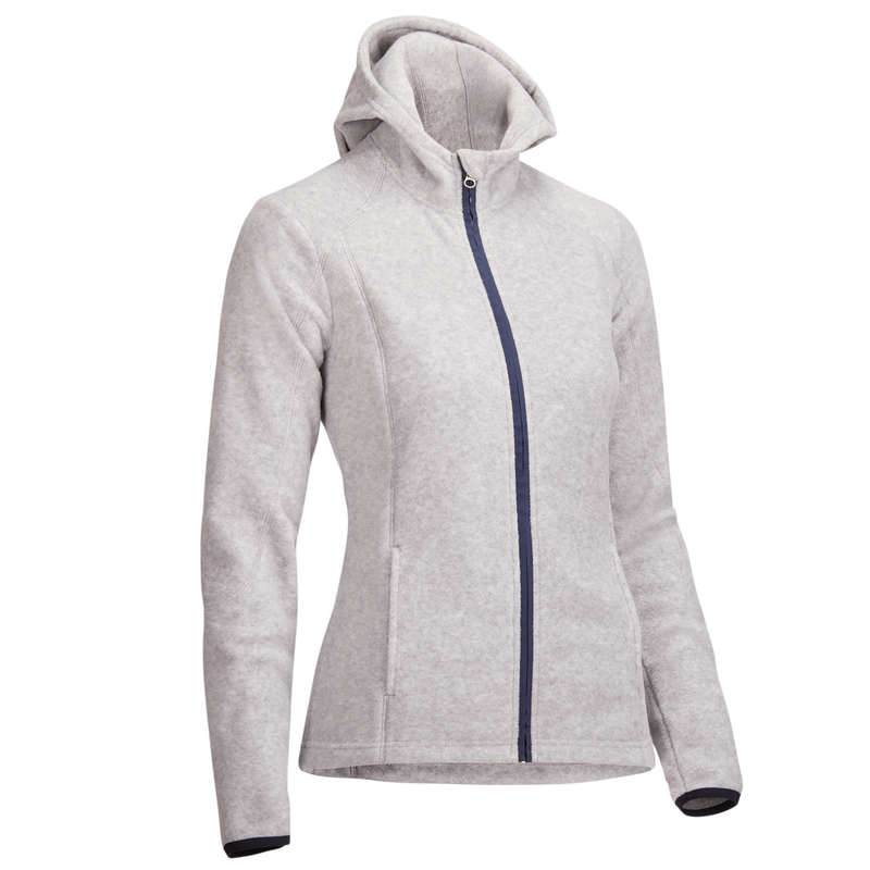 WOMAN COLD WEATHER RIDING WEAR - 2-in-1 Hooded Fleece - Grey FOUGANZA