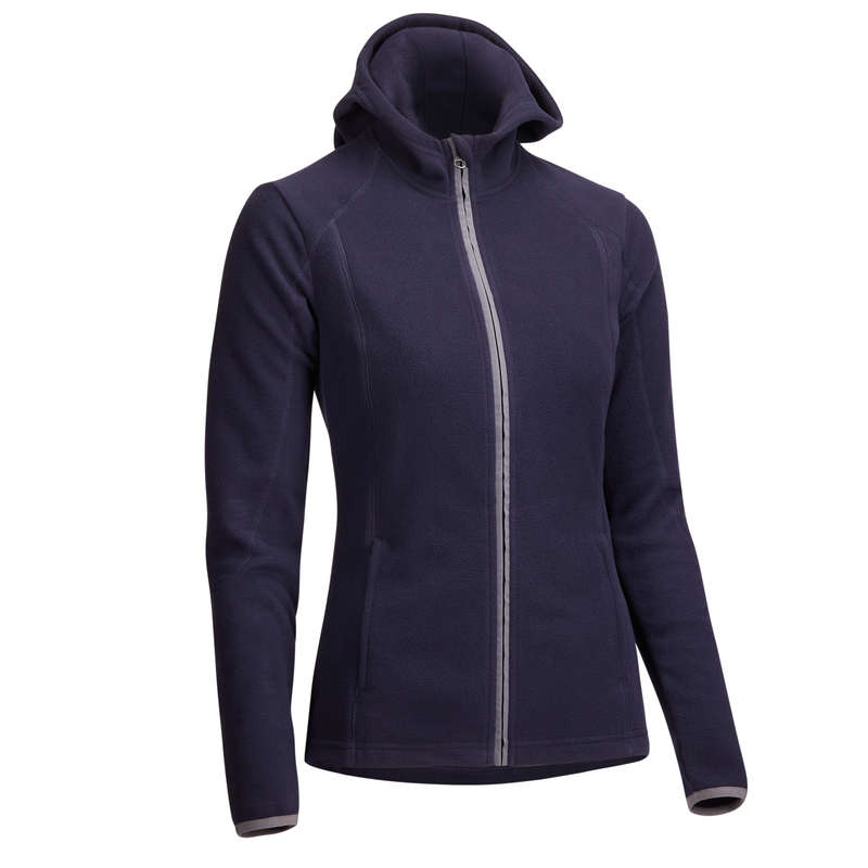 WOMAN COLD WEATHER RIDING WEAR - 2-In-1 Hooded Fleece - Navy FOUGANZA