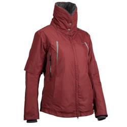 Veste chaude et imperméable équitation femme TOSCA 2 gris foncé/chevron
