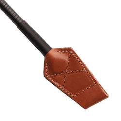 Cravache équitation 900 marron et noir - 49 cm