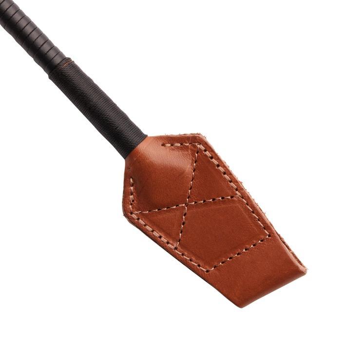 Fusta equitación 900 marrón y negro - 49 cm