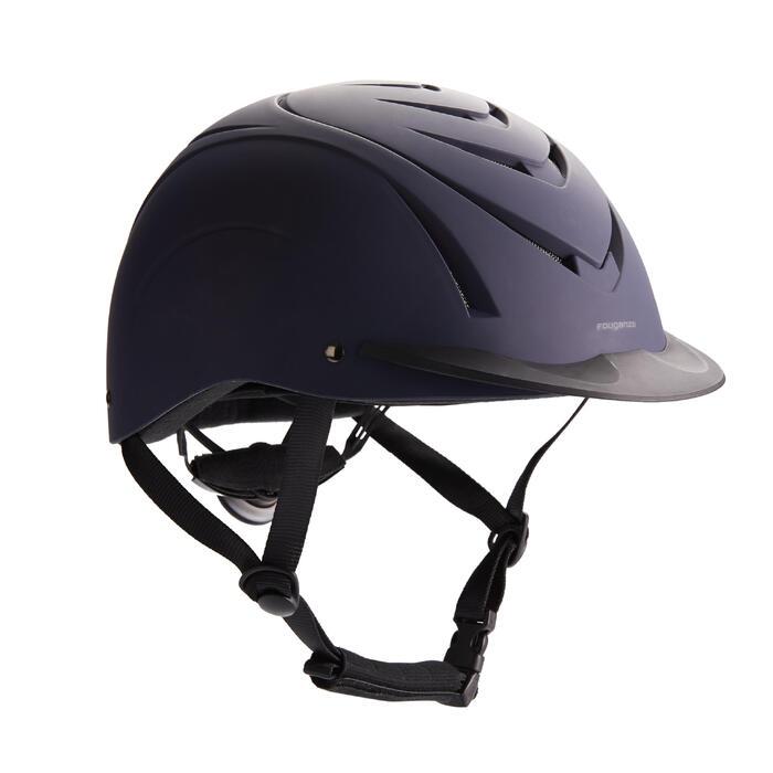 Casco equitación 500 azul marino/negro