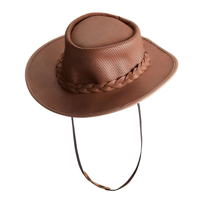 Túralovas ruházat Lovaglás - Lovas kalap CROSSOVER, barna DECATHLON - Lovas ruházat