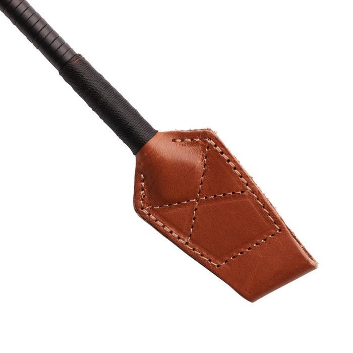 Cravache équitation 900 marron et noir - 58 cm