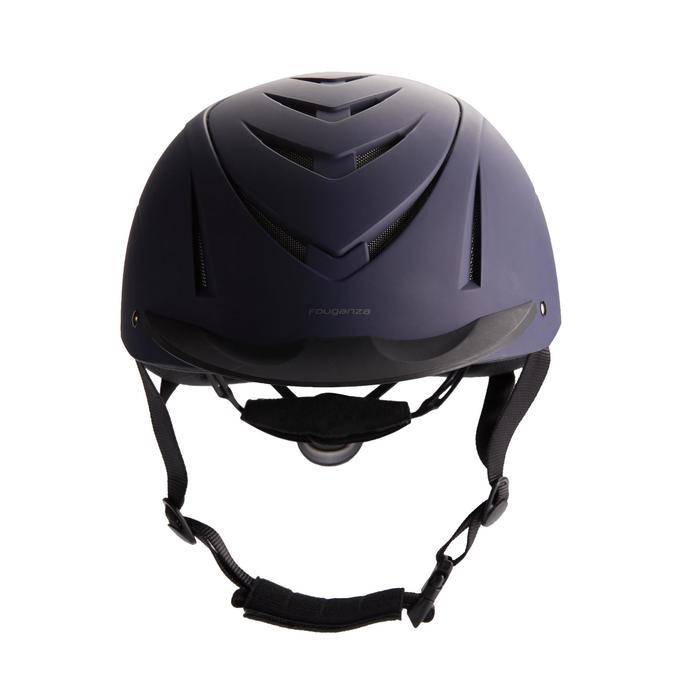 Paardrijcap 500 marineblauw/zwart