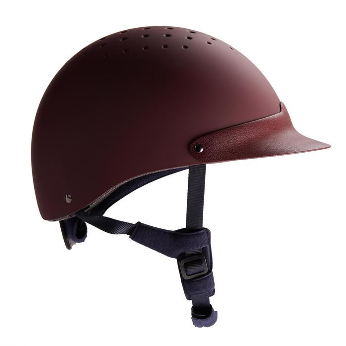Paardrijcap C120 bordeaux/zwart