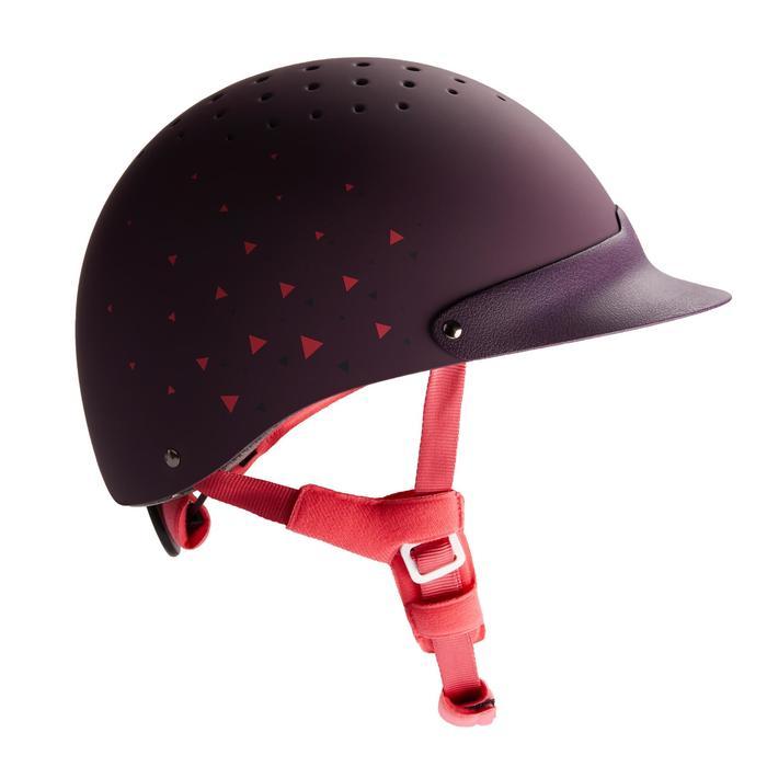 Casco equitación C120 ciruela/rosa/azul marino