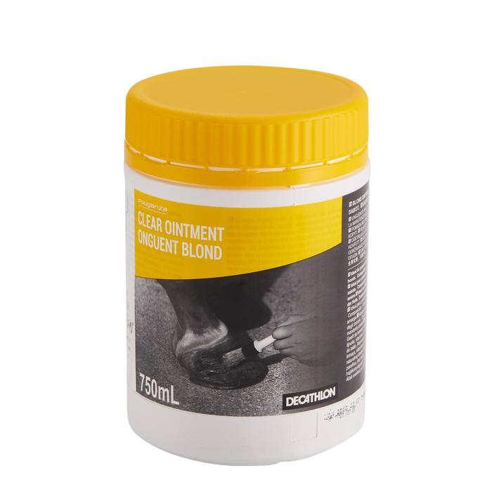 Care Ointment Horse Riding Hoof Grease for Horse and Pony 750 ml - Blond