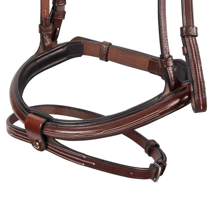 Hoofdstel ruitersport Tinckle bruin - maat paard
