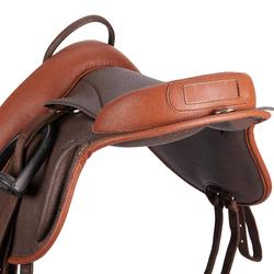 Montura Equitación Fouganza Bardette 100 Poni Marrón Sintética