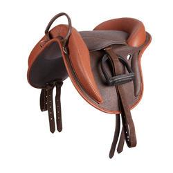 Bardette sintética equipada equitación poni 100 marrón