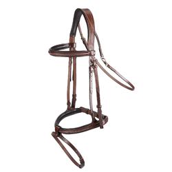 Hoofdstel ruitersport paard TINCKLE bruin