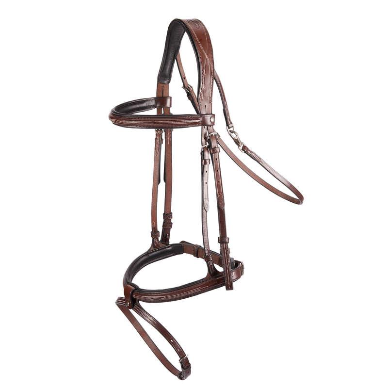 BRIDLEWORK Horse Riding - Tinckle Bridle - Brown FOUGANZA - Saddlery and Tack