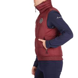 Bodywarmer voor ruitersport 500 Warm heren bordeaux