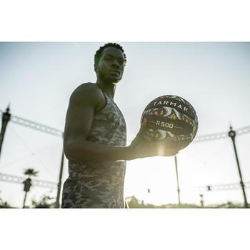 Ballon de basket adulte R500 taille 7. Increvable et ultra agrippant. - 1417358