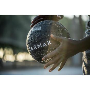 Balón de baloncesto adulto R500 talla 7 negro blanco Antipinchazos