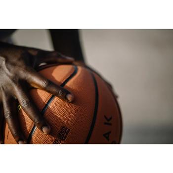 Basketbal volwassenen R700 Deluxe maat 7 oranje. Heerlijke baltoets
