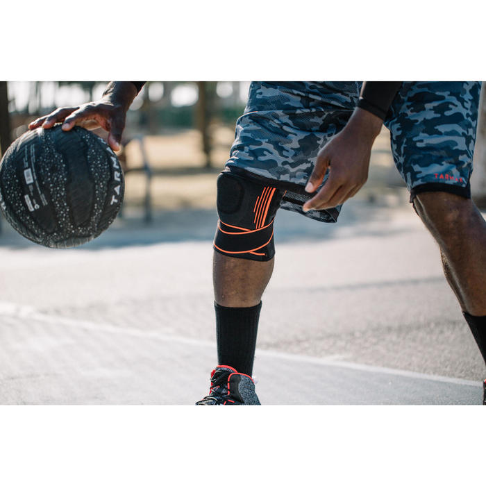 Kniebandage Mid 500 Bänderstütze links/rechts Damen/Herren schwarz