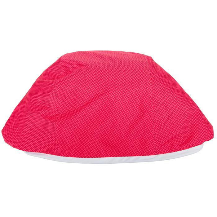 Chaqueta Cortaviento Impermeable Barco Vela Tribord 100 Mujer Rosa Capucha