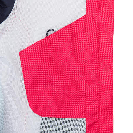 Chamarra impermeable de vela mujer SAILING 100 All over rosa