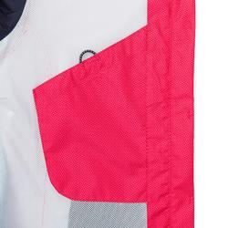 Chaqueta impermeable de vela mujer SAILING 100 All over rosa