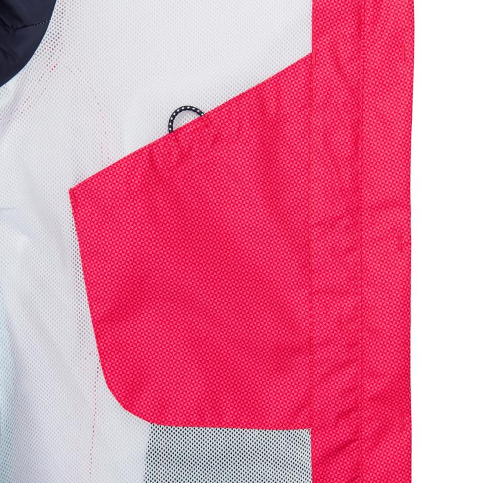 Segeljacke wasserdicht Sailing 100 All over Damen rosa