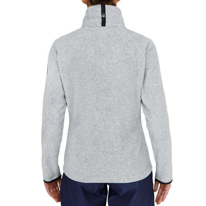 女款航海防潑水刷毛外套RACE 100-刷色灰。