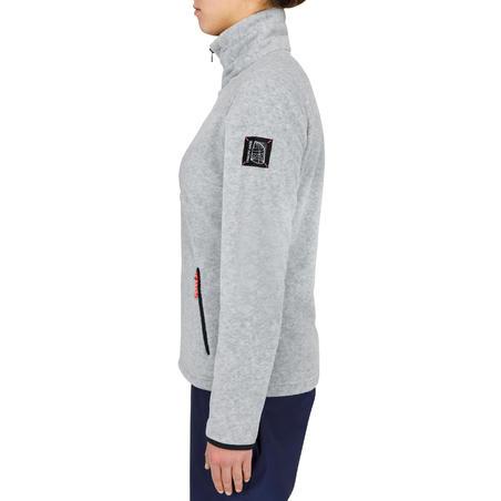 Women's Sailing Water Repellent Fleece RACE 100 - Grey Marl.