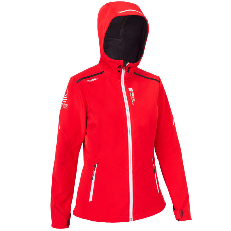 REGATTA COLD WEATHER WOMAN CLOTHES Sailing - Softshell Race Women BrightRed TRIBORD - Sailing Clothing