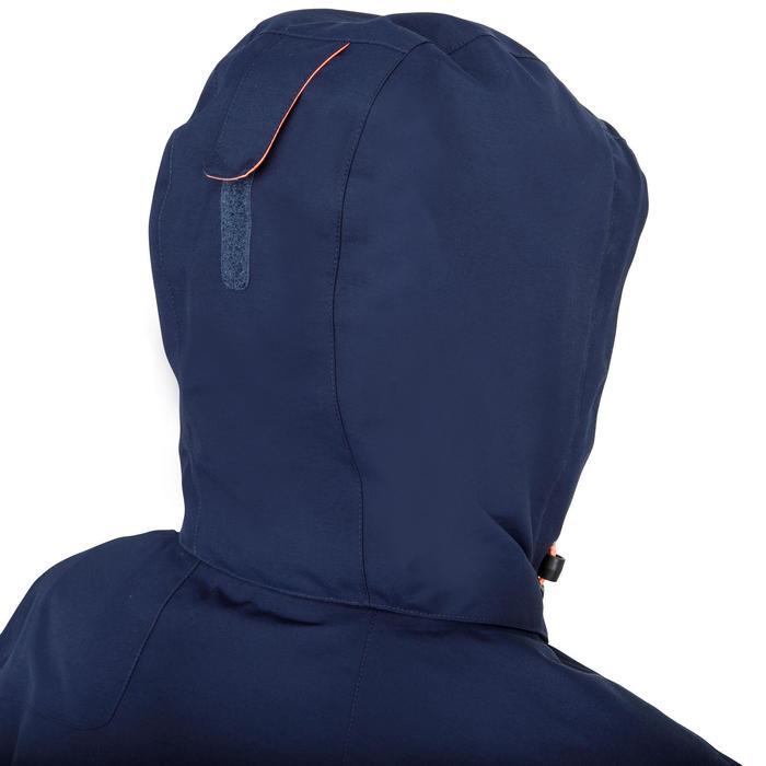 Chaqueta impermeable de vela mujer 100 azul marino
