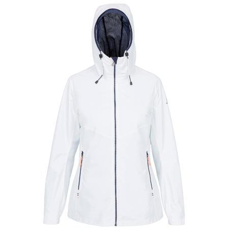 Women's Waterproof Sailing Jacket Sailing 100 White