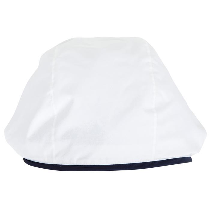 Chaqueta Cortaviento Impermeable Barco Vela Tribord 100 Mujer Blanca Capucha
