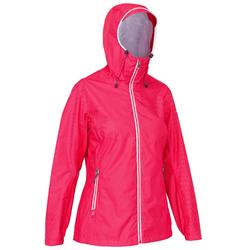 Chaqueta impermeable de vela mujer SAILING 100 All over rosa