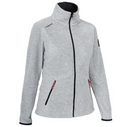 Women's Sailing Water Repellent Fleece RACE 100 - Grey Marl.