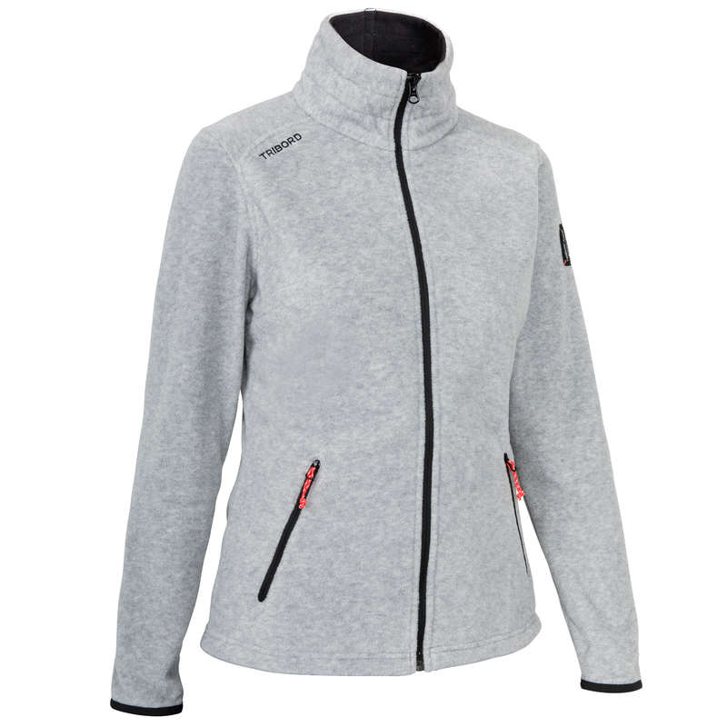 REGATTA COLD WEATHER WOMAN CLOTHES Sailing - W FLEECE RACE MOTTLED GREY NEW TRIBORD - Sailing Clothing