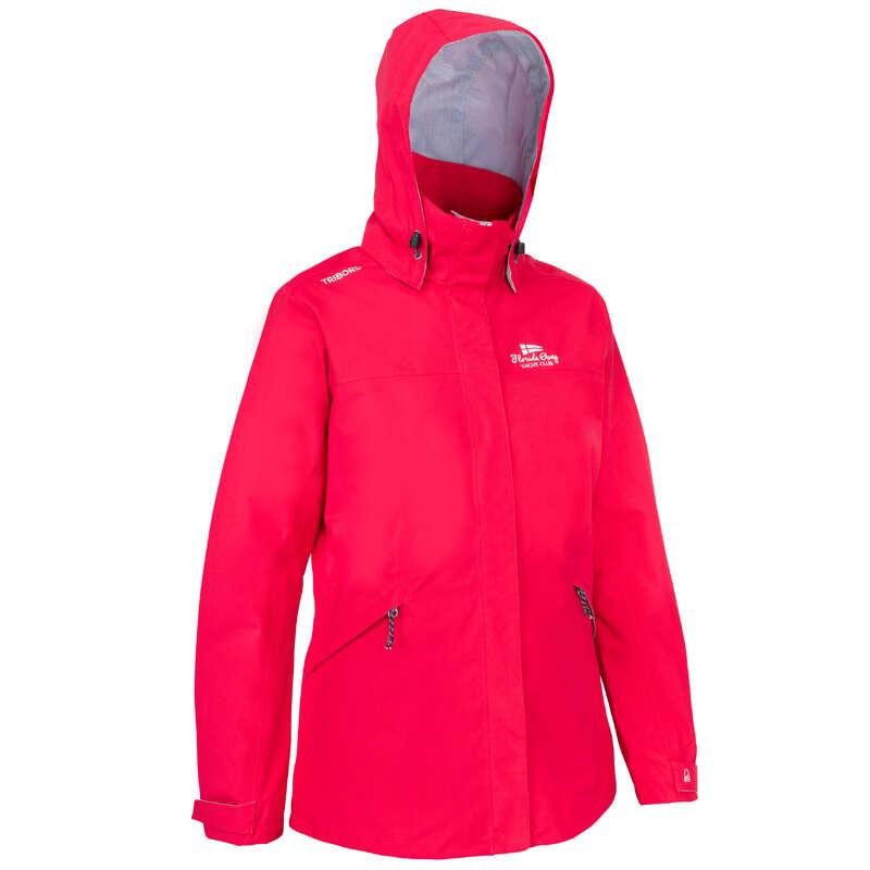 CRUISING RAINY WEATHER WOMAN CLOTHES Sailing - Sailing 300 W Jacket - Pink TRIBORD - Sailing Clothing