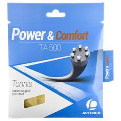 TA 500 1.3mm Multifilament Tennis Strings - Beige