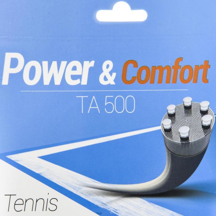 CORDAGE DE TENNIS MULTIFILAMENTS TA 500 1,3mm BEIGE - 1417689