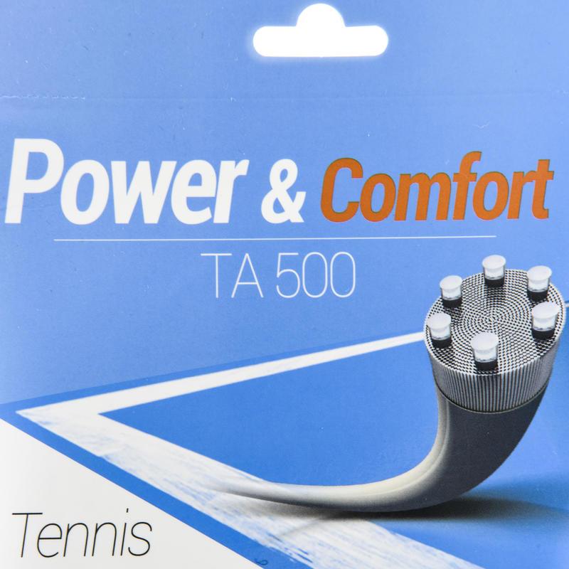 เอ็นชนิดเส้นใยหลายเส้นสำหรับแร็คเกตเทนนิสรุ่น TA 500 1.3 มม. (สีเบจ)