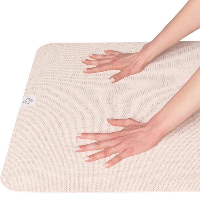 Esterilla de yoga caucho natural/yute 4 mm beige