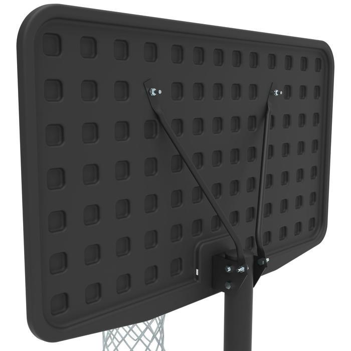 Basketbalpaal B100 zwart voor kinderen en volwassenen Verstelbaar van 2,20-3,05m