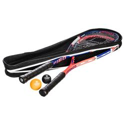 SET SQUASHRACKET SR 160 FAMILY (2 RACKETS, 2 BALLEN EN TAS)