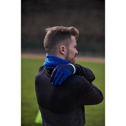 Guantes de fútbol Keepdry 500 cálidos adulto azul intenso